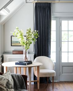 Elegance: Achieved. Get the look at theshadestore.com. #LoveYourWindows // Designed by Park & Oak for the Lake Forest Showhouse // Trim by Samuel & Sons Drapery, Curtains, Samuel And Sons, Window Dressings, Get The Look, Master Suite, Window Treatments, Blinds, Shades