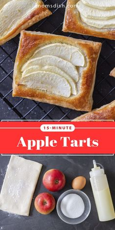 These apple tarts are super easy to make and make for the best fall dessert. This recipe is simple and delicious and has tons of flavor. These are the perfect dessert for unexpected guests, they are crazy easy to make and full of flavor. This recipe is made of simple ingredients and will become your favorite fall treat. #appletart #applerecipes #appledesserts #easydesserts #dessertrecipes #dessertideas
