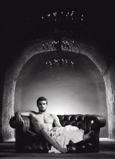 French Rugby Union Player Hugo Bonneval in 'Les Dieux du Stade' 2015's Calendar by Fred Goudon