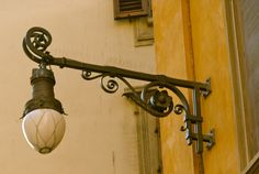 Street lamp, Florence.
