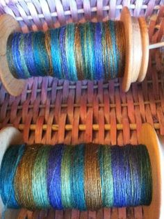 """Fractal Spun - learned technique in craftsy """"spinning dyed fibers"""" awesome online class"""