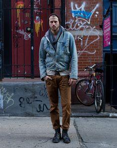 Moda hombre : el Street Style made in New York Hipster Fashion, Look Fashion, Fashion Photo, Autumn Fashion, Mens Fashion, Hipster Style, Looks Style, My Style, Estilo Cool