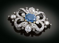 edwardian brooch | Edwardian Sapphire and Diamond Brooch
