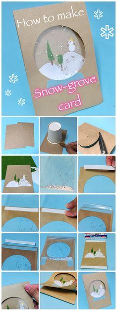 水のいらないスノードーム!?100均のお店にある材料で、キラキラかわいい「スノードームカード」を手作りしよう♪豊富な写真で作り方やポイントを詳しく解説します。 Happy Christmas Day, Christmas Card Crafts, Christmas Cards To Make, Kids Christmas, Handmade Christmas, Holiday Crafts, Diy And Crafts, Paper Crafts, Karten Diy