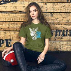 Donkey, Cool Funny Quotes Gift / Short-Sleeve Unisex T-Shirt 98W - Olive / S