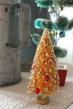 1000 Images About Vintage Christmas Bottle Brush Trees On