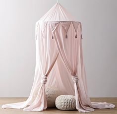 pretty pink teepee + pink canopy | RH Baby and Child #8thandsupreme