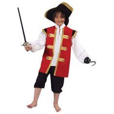 No Sew Captain Hook Costume using a T-Shirt!