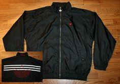 496ed3f8d3ef Vintage ADIDAS Trefoil nylon lined Windbreaker Jacket-mens  Large-running golf FREE