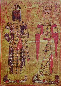 Manuel I Komnenos wearing the modified loros, 12th century.
