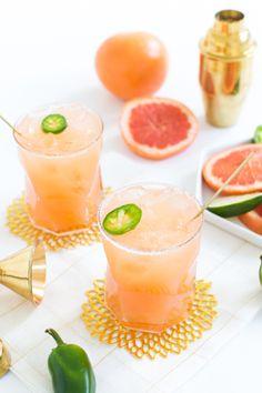 simple spicy paloma recipe #sipsforsummer - Sugar & Cloth