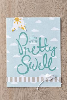 We love this card made with the Sweet Dreams DSP and the Big On You stamp set.