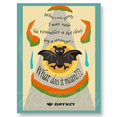 Bat Postcard $1.10