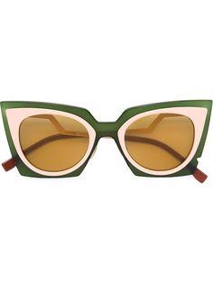 aea2be64d4143 Fendi Eyewear Óculos De Sol  Orchidea  - Farfetch