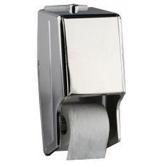 Dispensador de papel higiénico doble en dos acabados diferentes, brillo y satinado. http://www.ilvo.es/es/product/dispensador-de-papel-higienico-doble-