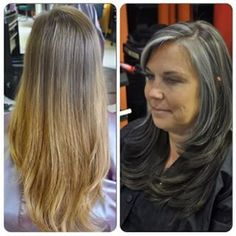 before and after grey hair - Google Search