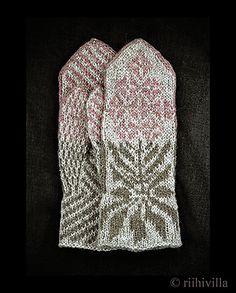 Ravelry: Willow Herb Mitten Kit pattern by Jouni Riihelä and Leena Riihelä