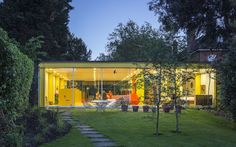 An unusual open-plan home in Wimbledon, lovingly designed by the architect   Richard Rogers for his mother and father, is on the market for £2.9m