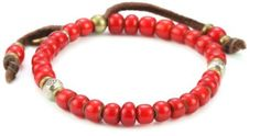M.Cohen Handmade Designs Men's African Glass Trading Bead Red on Deerskin Leather Bracelet M.Cohen Handmade Designs. $120.00. Made in the United States. Remove before showering to maintain best condition