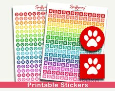Animal Planner Stickers  Paw Print Stickers  Pet by Spiffyway https://www.etsy.com/listing/249880316/animal-planner-stickers-paw-print?ref=shop_home_active_21
