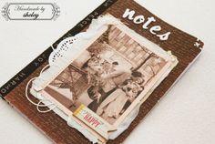 Handmade romantic notebook