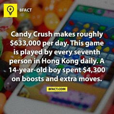 Candy Crush is an addiction, folks. I am so glad I've never played it before.