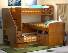 Best Three Level Bunk Bed Kid Beds Triple Bunk Beds Bunk 400 x 300