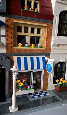 Custom LEGO Hub Bike Shop & Blossom Florist Shop