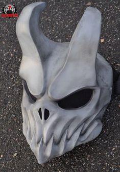 N skull mask , Oni Mask, Skull Mask, Skull Helmet, Inspiration Drawing, Cool Masks, Masks Art, 3d Prints, Mask Design, Sculpting