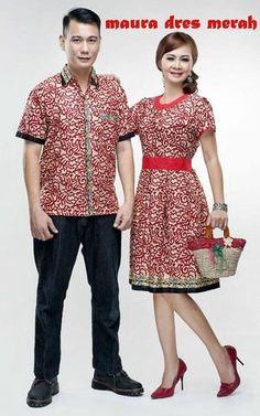 dress kemeja batik couple murah merah elegan 39f75be654
