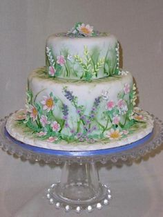 Spring Garden Cake  on Cake Central