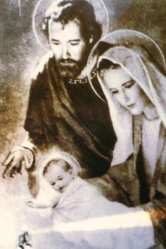 Miraculous picture of the Holy Family.  See the host consecrated at the bottom of the picture with light emoting from it.