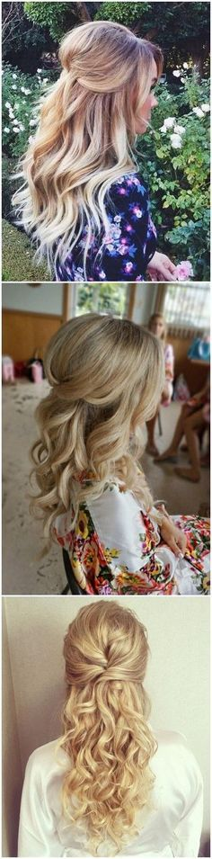 Wedding Hairstyles » 22 Half Up and Half Down Wedding Hairstyles to Get You Inspired » ❤️ See more:  http://gurlrandomizer.tumblr.com/post/157387787697/hairstyle-ideas-i-love-this-hairdo-facebook