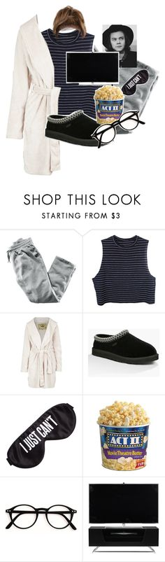 """""""Lazy Day, Night Out Prt. 1"""" by lifeissweet170000 ❤ liked on Polyvore featuring H&M, UGG Australia, UGG, Perpetual Shade, Alphason, kitchen and bathroom"""