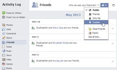 Hide your Facebook friend list from other users...