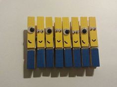 These Clothespin Minions For All Your Hanging Needs | Community Post: 16 Minion DIY Projects You Won't Believe Exist