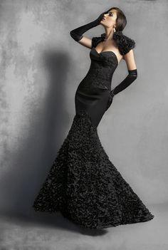 Yochi Ben - Catalog - Black long dress with jacket fashion fashion fashion