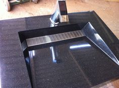 Slot Drain Trough Sink With A Stainless Linear Drain Cover