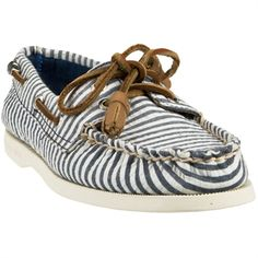 Sperry Top-Sider Cloud Logo Authentic Original Striped Two-Eyed Boat Shoe #VonMaur