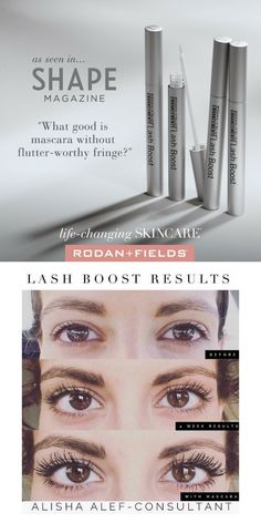 b400b72f634 Makes your natural lashes longer, thicker and darker. Lash Boost results by  Rodan + Fields. #lashboost #growyourlashes #lashextensions #rodanandfields  ...