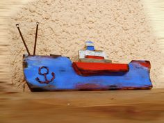 blue red 1 little ship