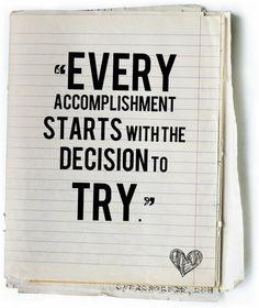 Accomplish.