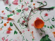 Malowanie śrubkami - baw się, rozmawiaj i ucz!