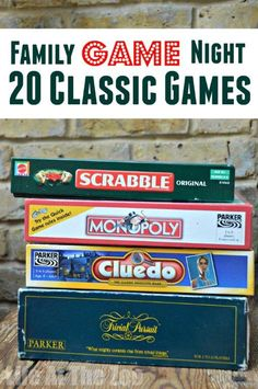 """Kids learn SO MUCH from traditional games and board games. Here are 20 """"classics"""" that every child should have the pleasure of learning to play!"""