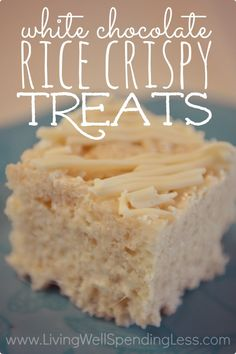 White Chocolate Rice Crispy Treats | How to Make Rice Crispy Treats