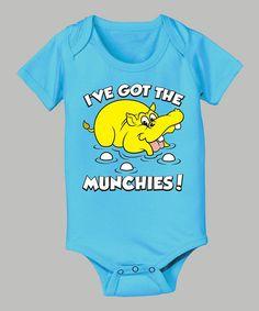 Turquoise 'I've got the Munchies' Hippo Bodysuit