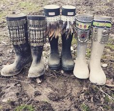 spice up your wellies using ribbon, lace and maybe even just draw on them with sharpie. wellies are an ESSENTIAL at festivals they get VERY muddy x