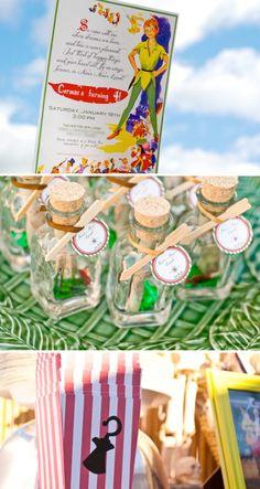Peter Pan themed birthday party via Karas Party Ideas | KarasPartyIdeas #peter #pan #pirates #tinkerbell #birthday #cake #party #ideas