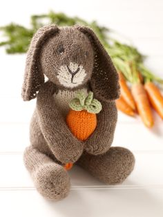 Bunny With Carrot • Free tutorial with pictures on how to make a bunny plushie / rabbit plushie in under 120 minutes #howto #tutorial