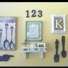 Use house numbers for a perfect vintage look in a grouping!